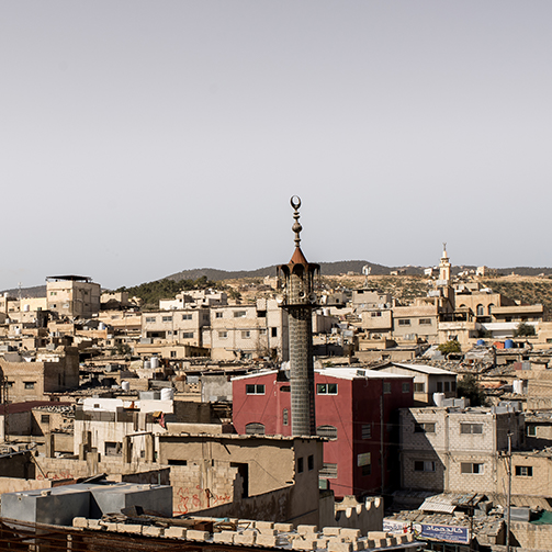 Jerash Camp view mosque
